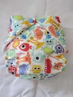 Pocket Cloth Diaper in Little Monsters Print