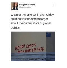 Or the state of your miserable fucking life #christmaslaughs
