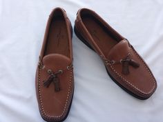 Tommy Bahama Shoes 10.5 M Men Brown Espresso Leather Tassel Casual Loafer Boat  #TommyBahama #BoatShoesTassel