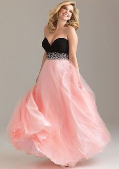 Night Moves Plus Sized Beaded Ball Gown for Prom 6501W at frenchnovelty.com