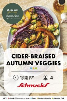 All of our favorite fall colors as a fresh veggie side dish. Fall Recipes, New Recipes, Veggie Side Dishes, Cooking Tips, Veggies, Yummy Food, Stuffed Peppers, Budget, Magazine