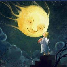 Che fai tu o luna in ciel Dimmi che fai Silenziosa luna