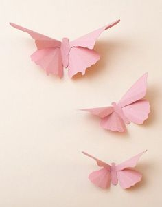 3D Wall Butterflies Carnation Pink Butterfly by hipandclavicle