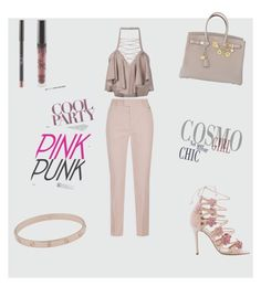 """party beige"" by jrp8502 on Polyvore featuring Escada Sport, Balmain, Marchesa, Hermès and Cartier"