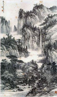 #orientallandscape #chinesebrushpainting #chineselandscape