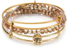 Alex and Ani Alex And Ani Bangles, Trendy Summer Outfits, Eye Of Horus, Bracelet Set, Jewels, My Style, Earrings, Gold, Accessories