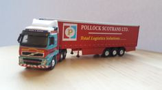 Pollock scotrans ltd volvo fh CC18001 trailer geen no  1/87