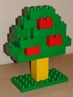 Great Lego and Duplo examples. I am going to use these ideas to help my kids come up with their own build and read stories Lego and Duplo examples. I am going to use these ideas to help my kids come up with their own build and read stories! Lego Design, Easy Lego Creations, Pokemon Lego, Instructions Lego, Lego Therapy, Lego Tree, Lego Craft, Lego For Kids, Apple Theme