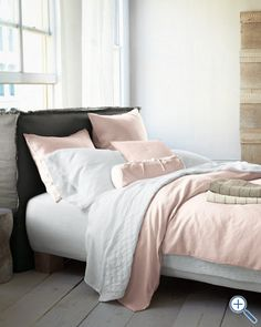 Eileen Fisher Washed Linen Bedding (rosewater)