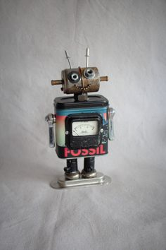 Fossil Fred the Robot by FairyJunkMother on Etsy