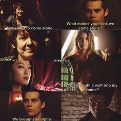 """#TeenWolf 4x01 """"The Dark Moon"""" - Araya, Stiles, Malia, Kira and Scott"""