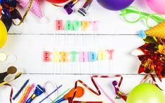 Download wallpapers Happy Birthday, candles, decoration, Birthday concepts