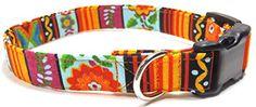 "Southwestern Sunflower Striped Dog Collar, Orange Fall Tribal Designer Cotton Dog Collar, Southwest Stripes Adjustable Handmade Collars (S - 3/4"") Ruff Roxy http://www.amazon.com/dp/B016OYA0BY/ref=cm_sw_r_pi_dp_PibNwb0CCXHJB"