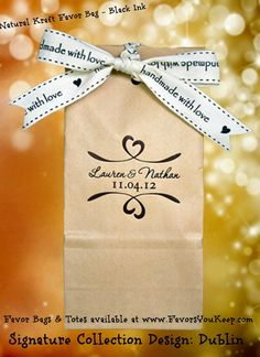 Very affordable favor bags that self-seal to preserve freshness.