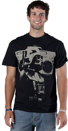 Boom Box Darth Vader Shirt I don't know who this hot man is but I like his face!
