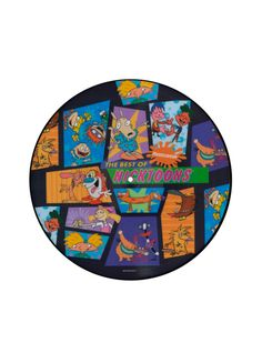 Hot Topic exclusive picture disc with 41 tracks from classic Nicktoon's such as Ren & Stimpy, Rugrats, Hey Arnold, Rockos Modern Life, Aaahh!!! Real Monsters, Angry Beavers, Catdog and Kablaam! Limited edition.