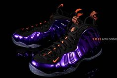 Nike Air Foamposite One Phoenix Suns New Detailed Pictures Running Sneakers, Running Shoes, Sneakers Nike, Nike Air, Best Looking Shoes, Purple Sneakers, Nike Foamposite, Phoenix Suns, Foam Posites