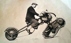1937 front drive tracked prototype motorcycle