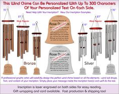 Bell Personalized Wind Chime The Perfect Personalized Gift