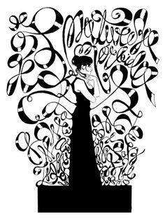 Cartazes experimentais com desenho e tipografia