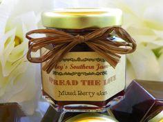 Rustic Mason Jar Wedding Jam Favors 50 by SouthernJamsandJelly