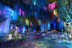 under the sea theme ~ lighting makes the event! Dance Themes, Prom Themes, Event Themes, Event Ideas, Reception Ideas, Under The Sea Theme, Under The Sea Party, Underwater Theme, Prom Decor