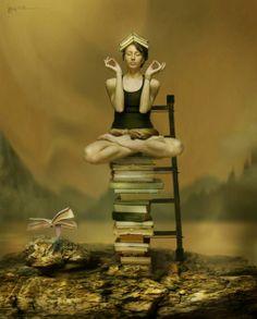 O cão que comeu o livro...: Leitora em meditação / Meditating on books