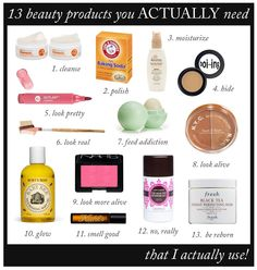 Beauty Products- I have no idea where to get some of this stuff or what it is but. .. pining anyways