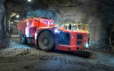 Download wallpapers Sandvik TH663i, 2017, special equipment, underground truck, tipper trucks