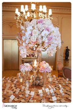 Escort card table. I have spoke with sharon about creating the tall arrangement for the table, but I also love a few candles surrounding it.