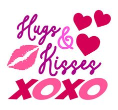 SVG Commercial Use  Cutting file Hugs & Kisses by TheLazyIdesigns