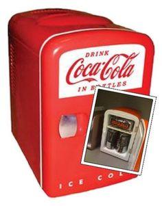 Coke Brand Small Desktop Refrigerator
