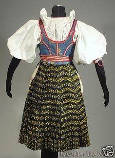 RARE Slovak Folk Costume Vazec embroidered apron blouse blueprint dress KROJ old Folk Costume, Costumes, Embroidered Apron, Dress Skirt, Two Piece Skirt Set, Blouse, Skirts, Cotton, Dresses