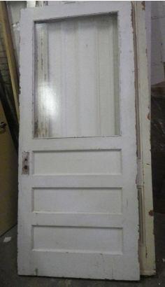 White Glass Panel Door - Build it Green NY