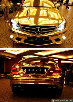 One of World Most Expensive Car Gold Mercedes Benz Autos