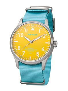 POP-PILOT® watches  SXM with a light turquoise nato strap