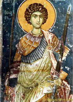 The types of Byzantine swords Byzantine Icons, Byzantine Art, Fresco, Saint George And The Dragon, Christian Artwork, Religion Catolica, Greek Gods And Goddesses, Best Icons, Religious Icons