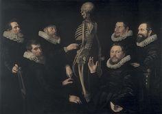 Thomas de Keyser or Nicolaes Eliaszoon Pickenoy, The Osteology Lesson of Dr. Sebastiaen Egbertsz, 1619, oil on canvas, 135 x 186 cm (Amsterdam Historical Museum)