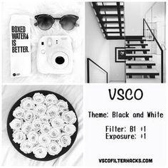 Instagram Preto e Branco Alimentação Usando VSCO Filtro B1