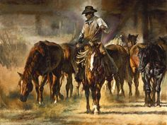 The Horse Wrangler by Chris Owen | Gallery4Collectors.com