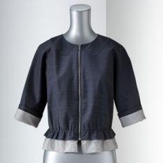 Got this great jacket at Kohls...Simply Vera Vera Wang Chiffon-Trim Crop Jacket - Women's