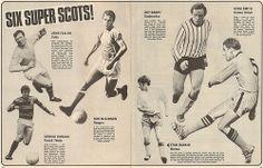 Six Super Scots! #JohnFallon #Celtic #RonMcKinnon #Rangers #ArthurDuncan #PartickThistle #RoyBarry #Dunfermline #DougSmith #DundeeUtd #StanRankin #Morton #Shoot! 1969-10-11