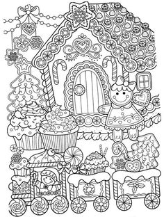 New Year coloring pages, Christmas coloring pages New Year c. - New Year coloring pages, Christmas coloring pages New Year coloring pages, Chri - New Year Coloring Pages, House Colouring Pages, Printable Adult Coloring Pages, Coloring Pages To Print, Coloring For Kids, Coloring Pages For Kids, Coloring Books, Doodle Coloring, Mandala Coloring