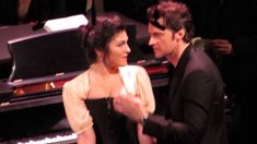 Richard Armitage as Swann and Lara Hillier as Odette in a scene from Di Trevis's Pinter/PROUST at 92nd St Y, New York City, January 16, 2014