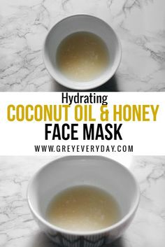 DIY Hydrating Coconut Oil & Honey Face Mask