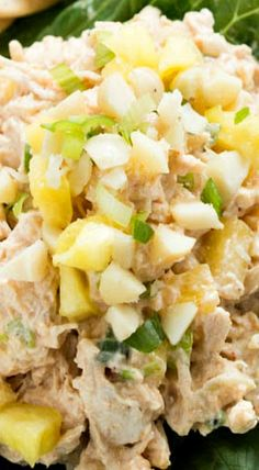 Hawaiian Chicken Salad (chicken recipes, appetizer ideas)