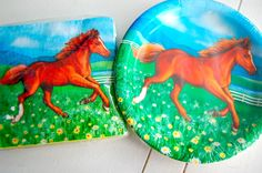 NEW MY HORSE Party Supplies NAPKINS (16), PLATES (8) HORSES BIRTHDAY farms NICE