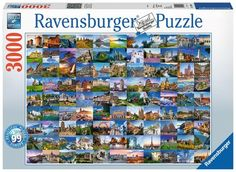 Buy Ravensburger: Jigsaw Puzzle - 99 Beautiful Places of Europe at Mighty Ape NZ. Challenge yourself with a piece puzzle from Ravensburger! This complex and colourful puzzle will keep you occupied for hours as you assemble t. Puzzles 3d, Disney Puzzles, Ravensburger Puzzle, 2000 Piece Puzzle, Mandala, Tower Bridge London, Kings Game, Science Kits, Europe