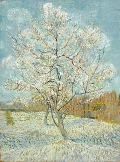 The Pink Peach Tree, by Vincent Willem van Gogh. Van Gogh intended the three orchard paintings, The pink orchard, The white orchard, and The pink peach tree to go together: a letter to Theo includes a sketch of the triptych he had in mind. Vincent Van Gogh, Van Gogh Museum, Claude Monet, Rembrandt, Henri De Toulouse-lautrec, Van Gogh Arte, Van Gogh Pinturas, Georges Seurat, Van Gogh Paintings