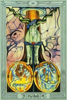 O Diabo no Thoth Tarot de Crowley e Frieda Harris